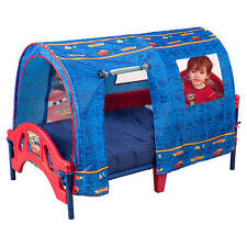 Disney Cars Canopy Tent Toddler BED Set with MATTRESS Safety Rails for Boys