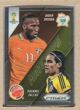Didier Drogba 5 2014 Panini Prizm World Cup Matchups vs Radamel Falcao