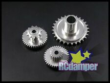 ALUMINUM REAR WHEEL GEAR ASSEMBLY 3PCS KYOSHO 1/8 MOTORCYCLE RGV NRS 500 MAIN