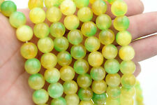 10mm Green Yellow Multicolor Kunzite Round Gemstone Loose Beads 15""