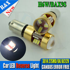 1X Led Side REVERSE Light Xenon White Car Bulb Error Free Canbus 433 H6W Bax9S