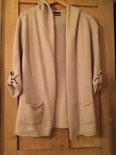 Ladies Massimo Dutti Angora And Wool Beige Long Cardigan Size M
