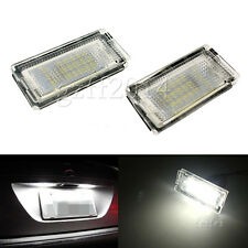 2x Error Free SMD LED Number License Plate Light For BMW E46 4D 5D Sedan