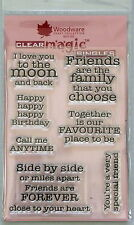 Woodware Clear magic stamps Friendships,special,love,sentiments frs286