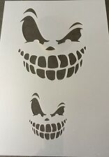 Scary Face Halloween Mylar Reusable Stencil Airbrush Painting Art Craft DIY