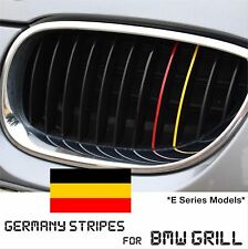 BMW Kidney Grill Stripes Germany German M Sport Decal Badge Stickers - E Series