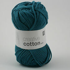 Rico Creative Cotton Aran - 100% Cotton Knitting & Crochet Yarn - Petrol 47