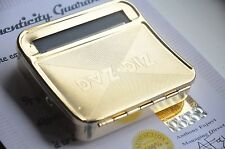 24k Gold Plated Automatic Tobacco Cigar Roller Rolling Machine  Cigarette Case