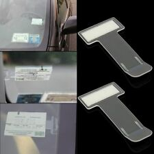 2x Car Vehicle Parking Ticket Receipt Permit Card Holder Clip Sticker Windscreen