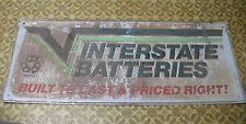 INTERSTATE BATTERIES GAS OIL CAR ADVERTISING SIGN, BUILT TO LAST & PRICED RIGHT