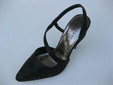 Valenti Franco Womens Shoes $60 Moya Black Sparkle Slingback 10 M
