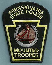 PENNSYLVANIA STATE TROOPER MOUNTED PATROL POLICE PATCH