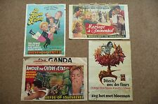 4 Belgium Original  Film Posters collection