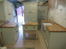 SPECIAL OFFER BARGAIN 5 PIECE FREESTANDING KITCHEN PAINTED PINE UNITS OAK TOPS