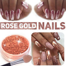 New Rose Gold Nail Mirror Powder Nails Glitter Chrome Powder Nail Art Decoration
