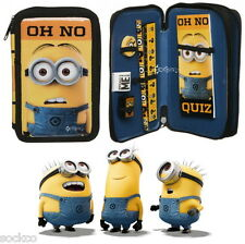 Minions Double Tier Filled Pencil Case Stationery Set School Gift Despicable Me