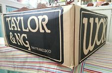 """Taylor & Ng 9-Piece WOK SET ~Gas or Electric ~ 14"""" Flat Bottom double handle vtg"""