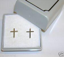 PENDIENTES CRUCES 11 X 8 mm, de PLATA de ley 925, Con estuche. Precio, y moda