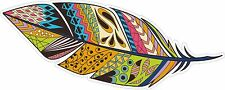 TRIBAL FEATHER FEATHERS INDIAN BOHO BOHEMIAN GYPSY DECAL STICKER STICKERS STY 1
