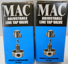 "Lot of 2 MAC QTM-1  1/4"" 5/16"" 3/8""  In-Line Piercing Valves"