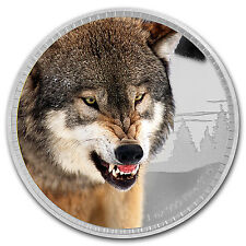 2016 Niue 1 oz Silver Kings of Continents African Grey Wolf - SKU #96717