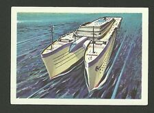 Queen Mary  Skiers Packet Boat Vintage Jacques Chocolate Card