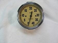 Vintage AC tachometer 3 3/8 mounting hole cable driven Clean Serviced 4000rpm