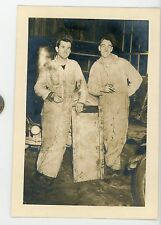 Vintage photo men in garage Triangle motors. Maybe Sunbury, PA occupational