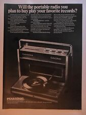 1968 Print Ad PANASONIC Portable Radio Swing-Way ~ Play Your Favorite Records