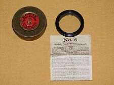 VINTAGE PHOTOGRAPHY FILM EASTMAN KODAK PORTRAIT ATTACHMENT No. 6 IN TIN CAN