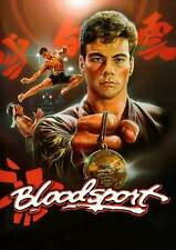 BLOODSPORT Movie POSTER 27x40 E Jean-Claude Van Damme Leah Ayres Roy Chiao