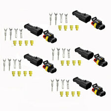 5 Kits 2 Pin Way Waterproof Electrical Terminals Car Truck Wire Connector Plug