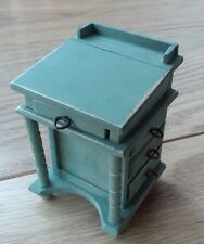 1/12th scale distressed and aged shabby chic desk in soft vintage green