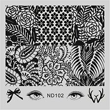 NEW DIY Manicure Nail Art Stamp Template Eyes Image Stamping Plate ND 102