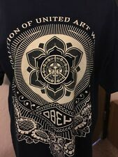 Obey Propaganda Coalition United Art Workers Geometric Lotus T-shirt Large Blue
