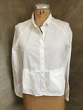 New BDG Urban Outfitters Crisp White Cotton Swing Top Shirt Blouse S