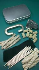 Real Natural Flint And Steel Deluxe Traditional Fire Lighting Kit - Bushcraft UK