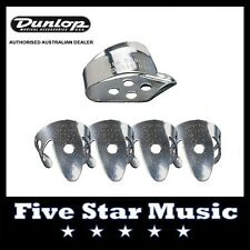 DUNLOP - 4 FINGER PICKS & THUMB PICK for BANJO, GUITAR, RESONATOR, ACOUSTIC  NEW