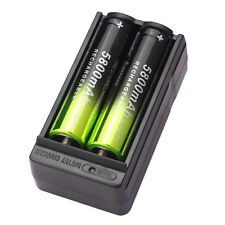 2X 5800mAh 3.7V Li-ion 18650 Rechargeable Battery BRC Recharge Cell&Dual Charger