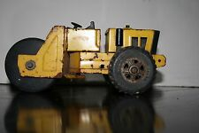 "Tonka Metal Steam Roller, vintage metal toy truck, approx. 8.5"" x 3.5"", yellow"