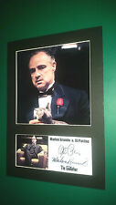 MARLON BRANDO & AL PACINO GODFATHER A4 PHOTO MOUNT SIGNED REPRINT AUTOGRAPH