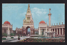 1915 Tower of Jewels Fountain Setting Sun PPIE exposition California postcard