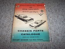 1956 Lincoln Continental Mark II 2 Premiere Capri Chassis Parts Catalog Manual