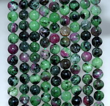 6MM RUBY ZOISITE GEMSTONE GRADE A  ROUND 6MM LOOSE BEADS 15.5""
