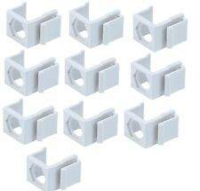 10pcs White Snap-in F type Coax Connector Blank Insert for Keystone Wall Plate