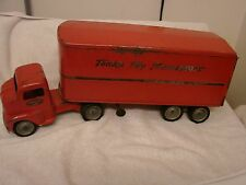 "VINTAGE TONKA TOYS TRANSPORT SEMI DUAL RUBBER NICE ORIG. DECALS 22"" X 6"""