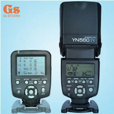 Yongnuo YN560TX LCD Wireless Flash Controller + YN560 IV Flash kit For Canon