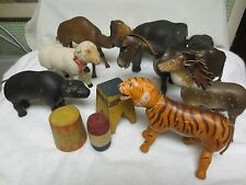 ANTIQUE SCHOENHUT ANIMAL COLLECTION PLUS ACCESSORIES CIRCUS TOYS DONKEY ELEPHANT
