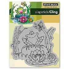 PENNY BLACK RUBBER STAMPS SLAPSTICK CLING TOADILY HAPPY STAMP