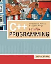 C++ Programming : From Problem Analysis to Program Design by D. S. Malik...